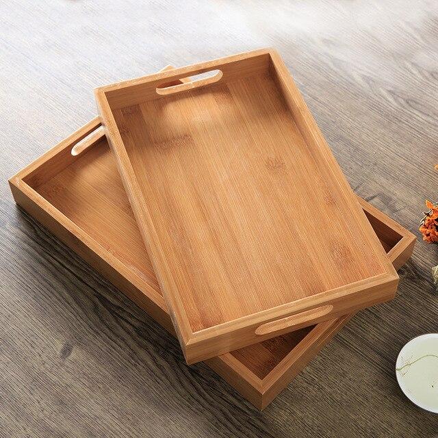 Bamboo Square Tray Breakfast Tray