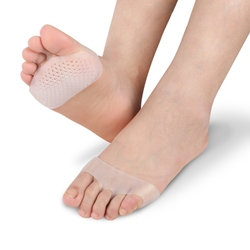 EYKOSI Protetor de Silicone Gel Almofadas Antepé Respirável Macio Elástico Alívio Da Dor Palmilha 1 Par