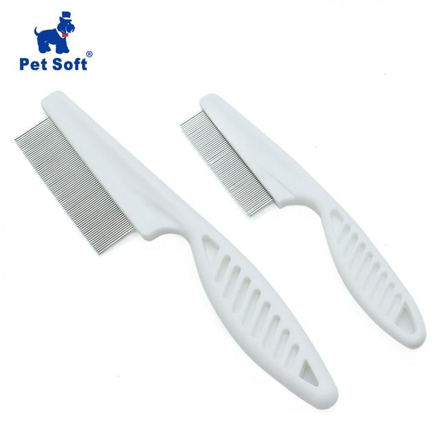 Peine suave para el cuidado de animales para mascotas, peine de protección antipulgas para perros y gatos, peine para el cuidado del pelo para mascotas, peine de acero inoxidable aseo