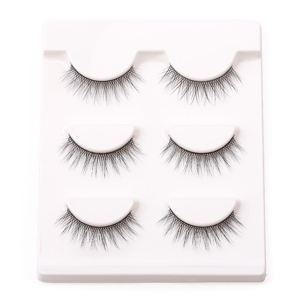 3pcslot 100 Handmade 3d Real Mink False Eyelash Natural Fake Eye