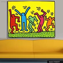 VANQUISH Keith HARING оригинальный поп-арт 17 жикле плакат печать на холсте Натюрморт Современная масляная живопись искусство 57102377