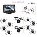 Full set 4.3' TFT LCD Car Monitor Reverse Radar sensor System 8 Alarm with Front Camera Rear view Camera Parking Assistance