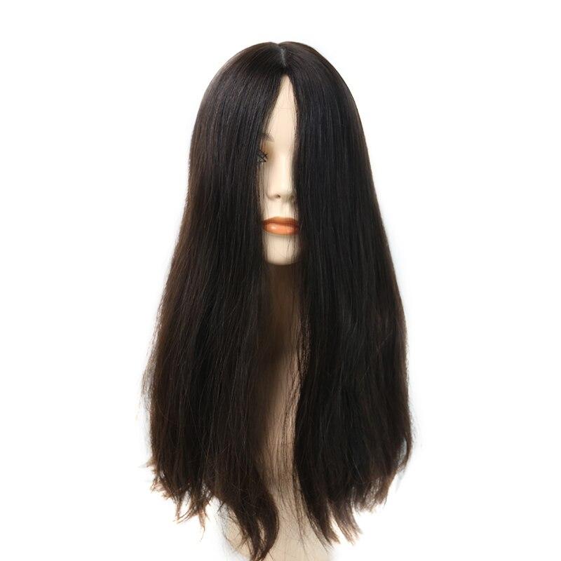 Kosher Wig Sheitels 100% Best European Hair Blunt Wigs Double Drawn Straight Lace Front Wig For Women Silk Base Jewish Wig
