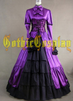 Adult Southern Belle Costume Halloween costumes for Women Purple Victorian dress Ball Gown Gothic lolita dress plus size custom