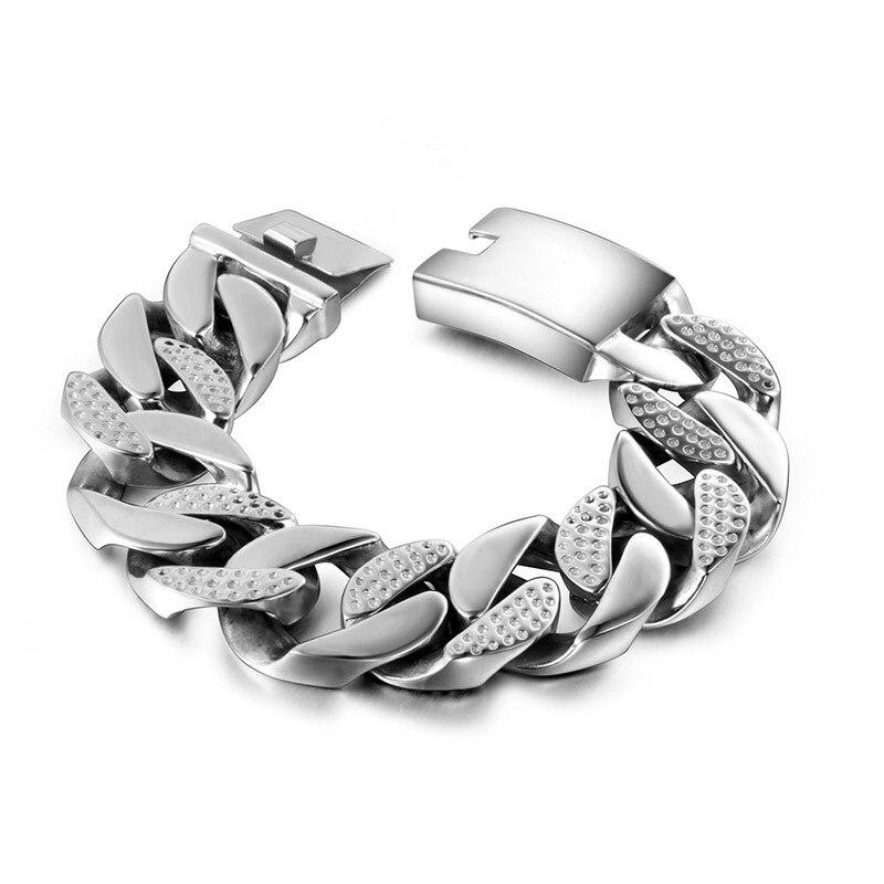 Bijoux en titane en gros acier coulée taches lignes entre bracelet lisse bracelet accessoires CE197 mode masculine