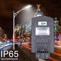 20W/40W LED Solar Powered luci esterno casa Outdoor Wall Street Light PIR Motion Sensor Lamp led wall outdoor waterproof light