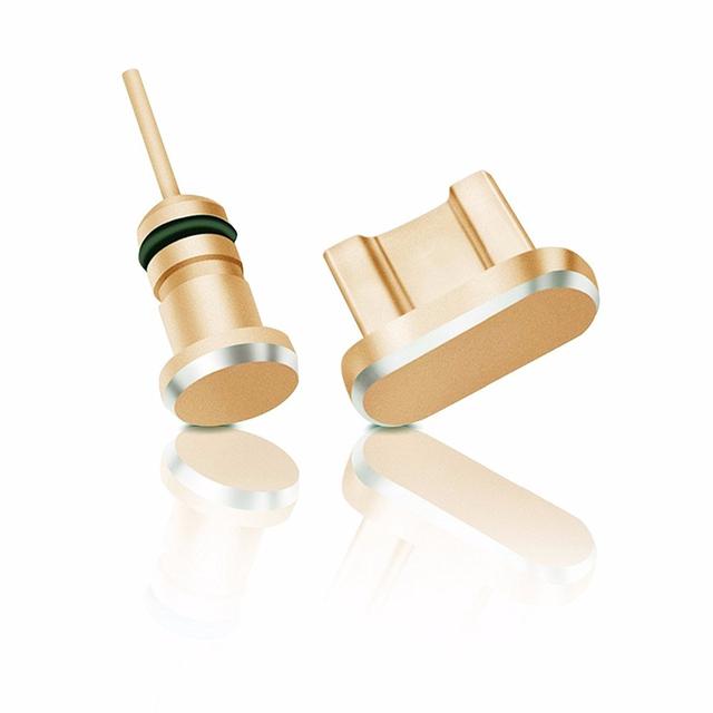2 sztuk Micro Usb Port ładowania telefonu + 3 5mm gniazdo słuchawkowe Micro Usb wtyczka przeciwpyłowa dla Xiaomi dla Huawei tanie i dobre opinie elenxs Port ładowania Wtyczki Pyłu Micro usb+3 5mm Black Gold Silver Rose Gold Metal