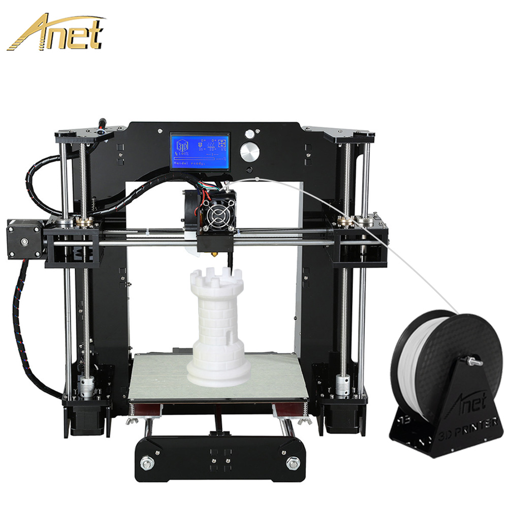 11.11 Promotion Anet Large Printing Size 3d printer machine Precision Reprap Prusa i3 DIY 3D Printer Kit With Free Filaments
