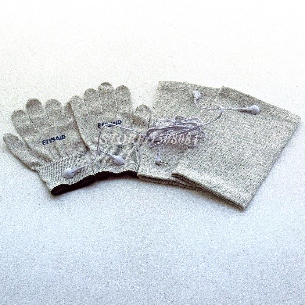 Konduktif perak serat TENS / EMS sarung tangan terapi elektroda + - Penjagaan kesihatan - Foto 6