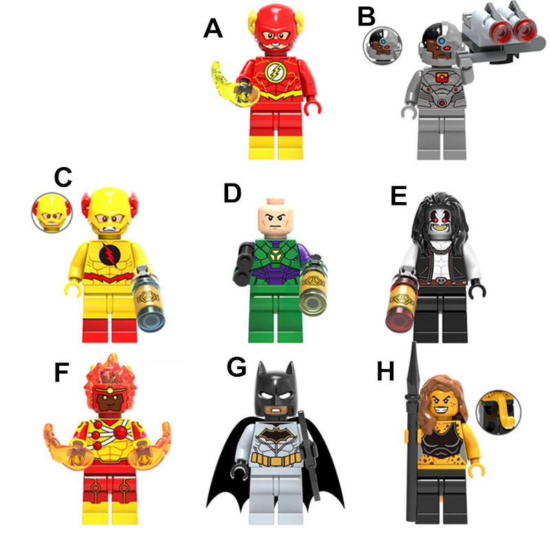 The Flash/Batman Action Figures Mini Figures Super Hero Building Blocks Compatible With LegoINGlys Toys Educational Blocks 4.5cm