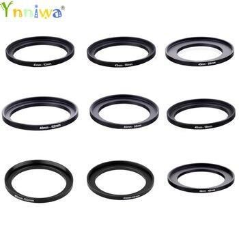 50pcs 37-46 43-52 43-55 43-58 46-52 46-55 46-58 49-55 49-58 49-62mm Metal Step Up Rings Lens Adapter Filter Set