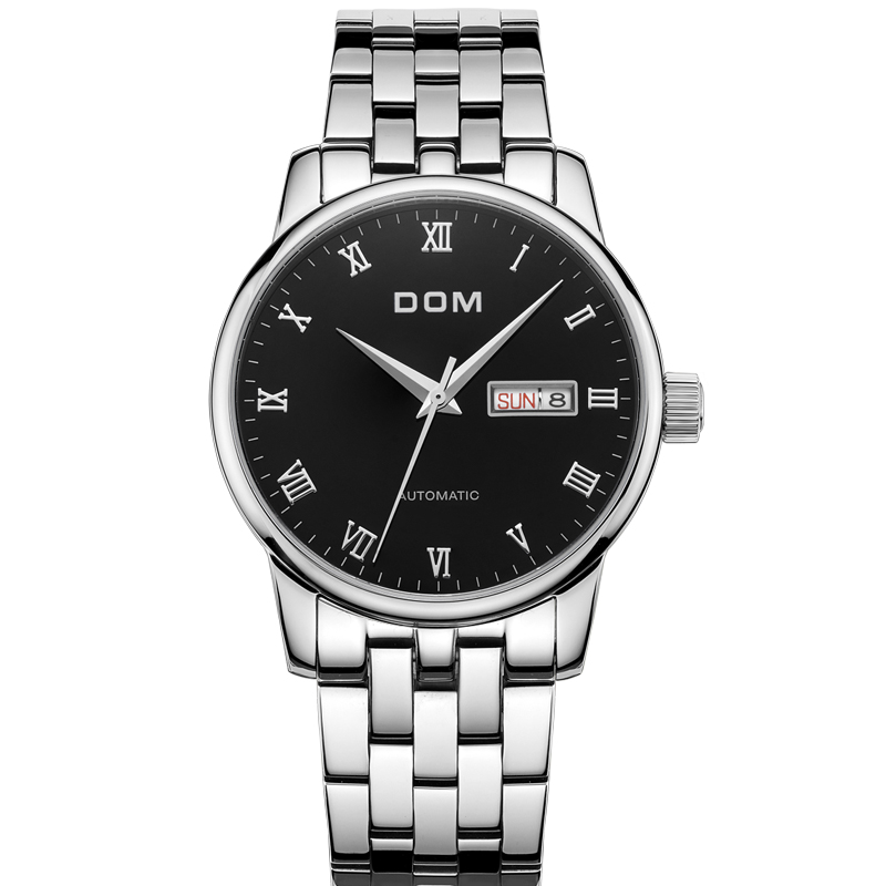 DOM men's watches top brand luxury waterproof mechanical stainless steel watch Male Business clock wrist watch for men New M-57 цена 2017