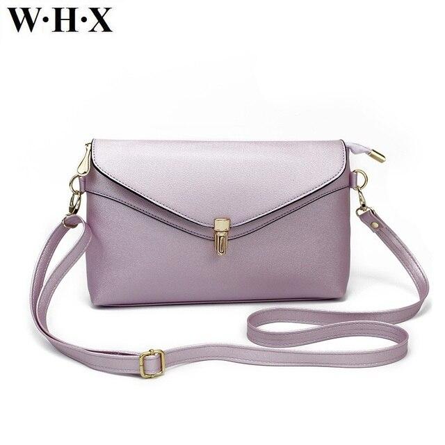 0d1fca15a WHX Women Messenger Bag Purple Cross Body Bag Latest Design Fashion Casual  Female Shoulder Bags Pu Leather New Style Girls Purse