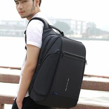 Mochila Kingsons para hombre apta para ordenador portátil de 15 y 17 pulgadas con carga USB multicapa, bolsa de viaje para hombre, Mochila antirrobo