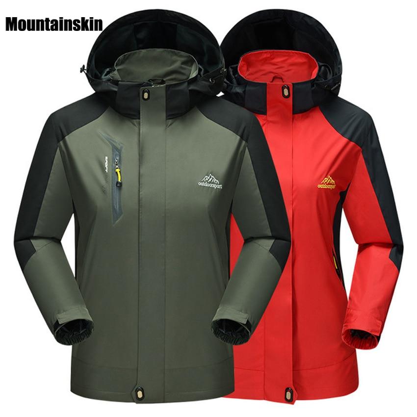 5XL Men Women Spring Breathable Softshell Jackets Outdoor Sports Waterproof Brand Jacket Hiking Trekking Coats Male Female VA044