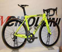 Fluorescent Yellow MCipollini BOND Complete Bicycle with 105 R7000 Groupset Cipollini carbon frames 50mm wheelset cheap CARROWTER Unisex Carbon Fibre Road Bike Other 150-200cm 8 5kg Double V Brake 1300*220*750 Other Pedals 150kg 11 5kg Resistance Rubber (Medium Gear Non-damping)