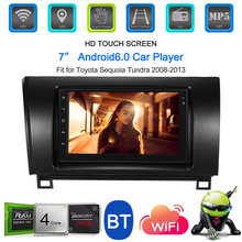 "7"" Touch screen autoradio 2 din android mirror Car radio Stereo Receiver Multimedia Player for Toyota Sequoia Tundra 2008-2013(China)"