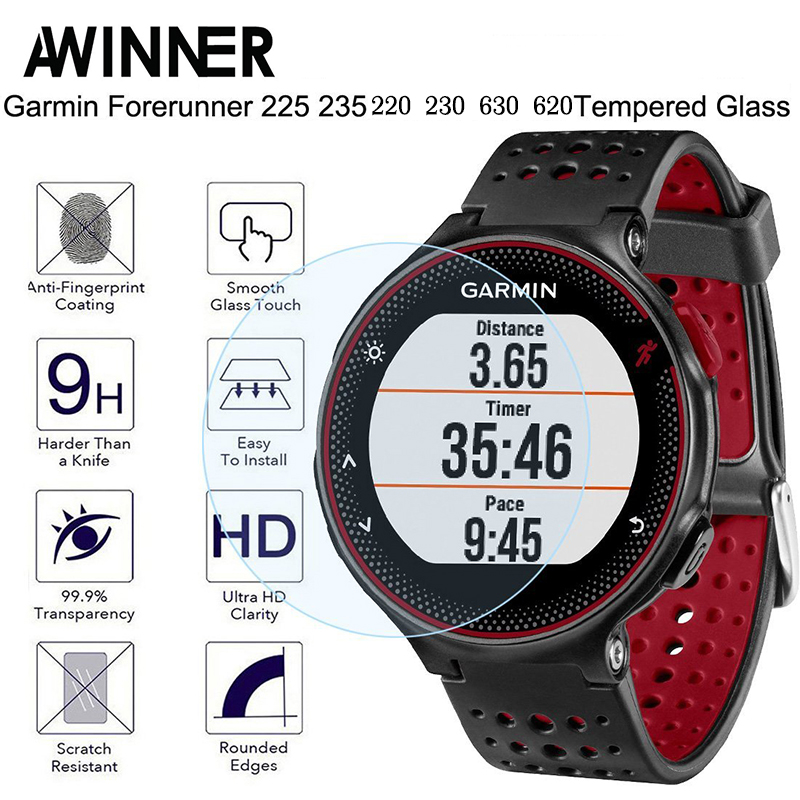 For Garmin Forerunner 235 Tempered Glass 9H 2.5D Premium Screen Protector Film For Garmin 235/225/230/220/620/630 Smart Watch forerunner 620 hrm
