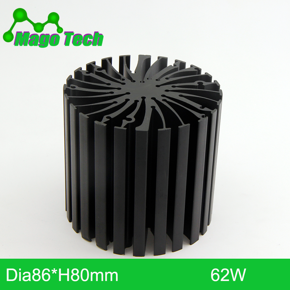 ø86*80mm Modular LED Star Cooler for low and high bay light LED Grow Light Heatsink 30 mounting holes for all COB Brands image
