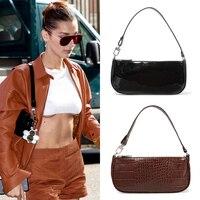 Stylish Crocodile Pattern Baguette Handbags 2019 New Female High Quality Designer Vintage Fashion Model Bags Shoulder Bag Purses