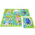 60 cm x 60 cm x 6 unids infantil Soft Eva Foam Puzzle Mat bebé Ciudad Carretera Juego Pad Alfombra Alfombras de Piso de Enclavamiento Para Niños Juegos