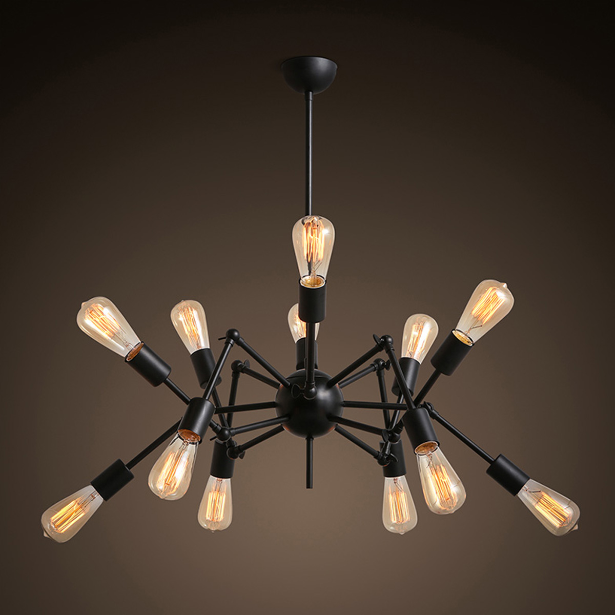 Novelty Pendant Light Vintage Black White Spider Shaped Lamp Metal Nordic Style Loft Dining Home Lighting Decor