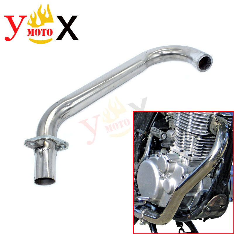 Modification Manifold Header Exhaust Pipe Steel For Yamaha SR400 <font><b>SR500</b></font> 1978-2009 1979 1980 1981 1982 1983 1984 1985 1986 1987 image