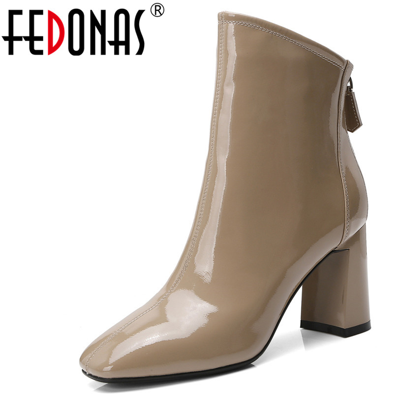FEDONAS1Fashion Women Ankle Boots Autumn Winter Warm High Heels Shoes Woman Pleated Genuine Leather Square Toe Brand Basic BootsFEDONAS1Fashion Women Ankle Boots Autumn Winter Warm High Heels Shoes Woman Pleated Genuine Leather Square Toe Brand Basic Boots