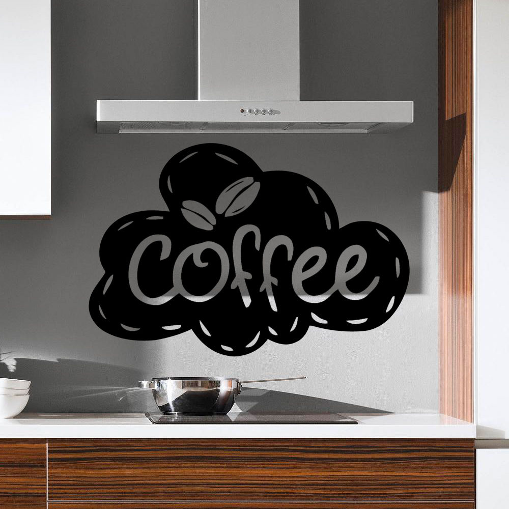 Coffee Cloud Kitchen Quote Wall Stickers Art Dining Room Removable Decals DIY