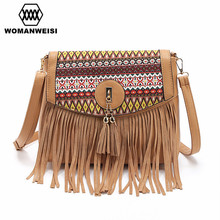 Women's Bag 2016 New Design Fashion Tassel Small Women Messenger Bags PU Leather Female Crossbody Shoulder Bags Kabelky