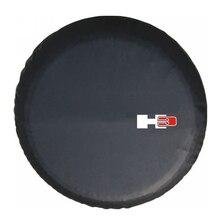 """14 """"15"""" 16 """"17"""" אינץ כבד PVC עור חילוף צמיג גלגל כיסוי Case פאוץ מגן תיק עבור האמר H3"""