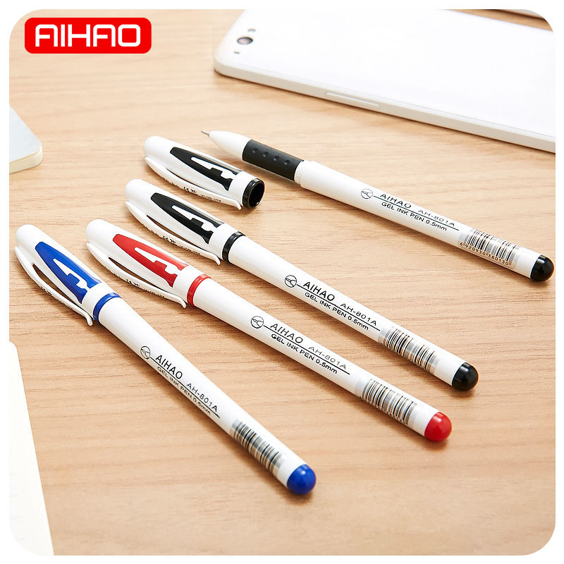 Student 0.5mm Kawaii Plastic School Gel Pen Cute White Writing Pens For Kids Gift Korean Stationery 1572