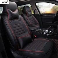 XWSN pu кожаные льняные автомобильные чехлы для сидений для nissan primera p12 Qashqai Note Мурано МАРТА Teana Tiida Almera X trai автомобильные аксессуары