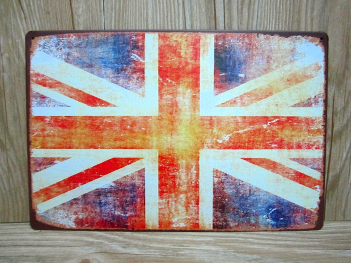 RZXD 435 British FlagVintage Metal Painting Tin Signs Bar Pub Wallpaper Art Decor Mural Poster Crafts 20x30 CM In Plaques From Home Garden