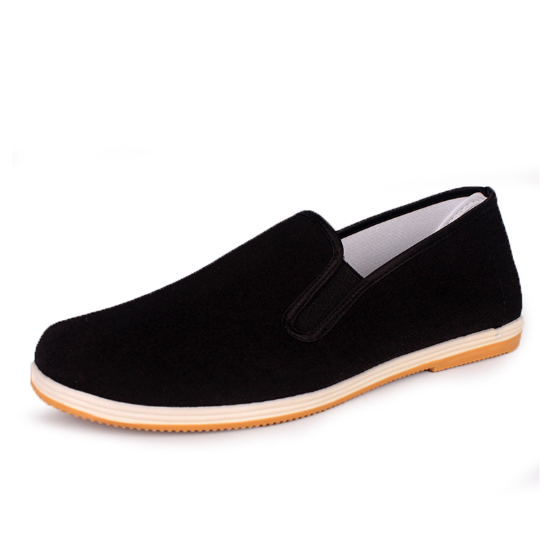 Women flats NEW 2017 Beijing Shoes Slip on Solid Moccasins lovers loafers men shoes B002