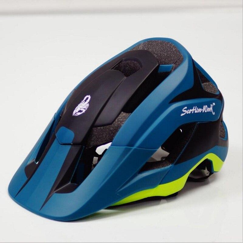 10 couleur 2019 nouveau enduro vélos intégrante casque avec visière pour homme femmes route casque de vélo de montagne vélo vtt vélo de course mâle chapeaux