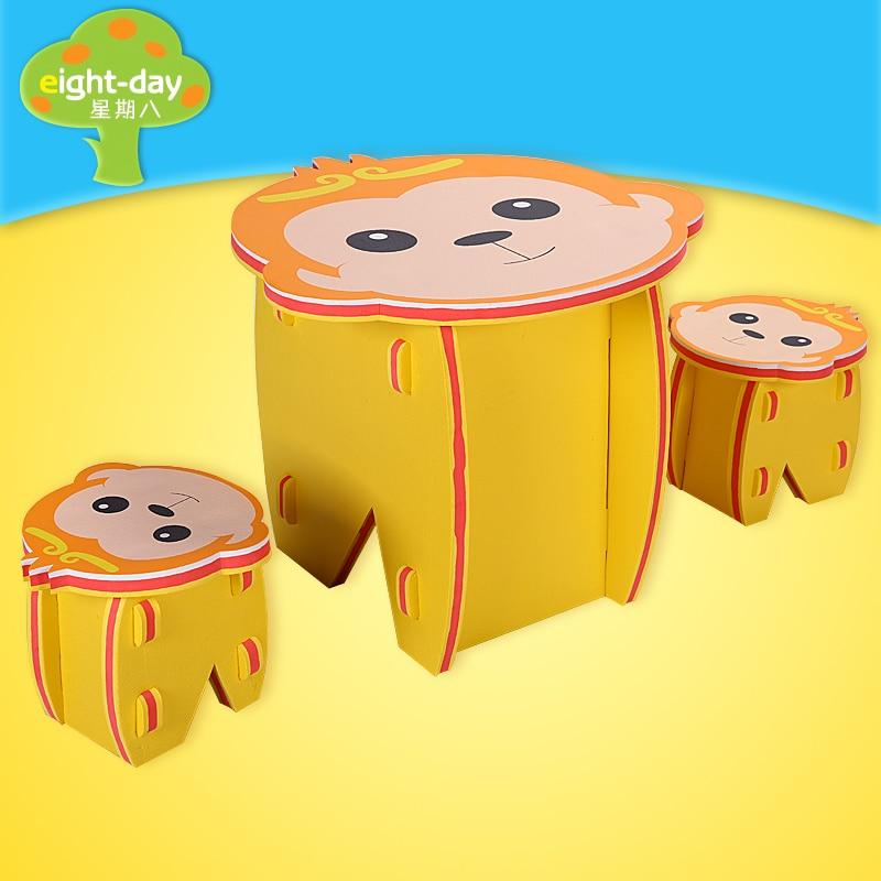 Monkey King Lion Chair Table Animal EVA Skum Baby Toy Pussel Spela - Leksaker för spädbarn