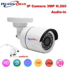 Heanworld H.265 HD 3.0MP IP Камера мини кронштейн Камера уличная Водонепроницаемая Ночное Видение видеонаблюдения Поддержка веб-камера смартфона
