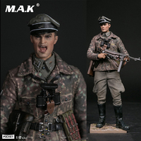 POCKET ELITE SERIES 1/12 WWII SS Panzer Division Das Reich PES003 German with Weapon Double Head Carving Full Set Action Figure