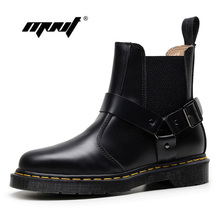 Genuine Leather Shoes For Autumn Boots Round Toe Shoes Woman Plus Size Botas Mujer Ankle Boots Women Couple Shoe
