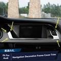 For Audi A4 B8 2013-2015 Interior Dashboard Navigation GPS Frame Cover Trim 1pcs