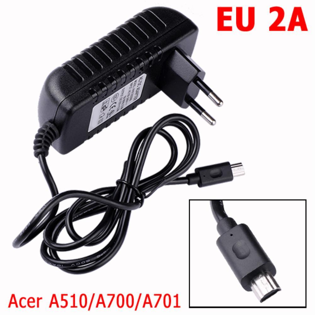 Ycdc поле ЕС США Plug светодиодные 12 В 2A стены Зарядное устройство Планшеты данные устройства зарядки для <font><b>Acer</b></font> <font><b>Iconia</b></font> <font><b>Tab</b></font> A510 a700 A701 Одежда высшего качес&#8230;