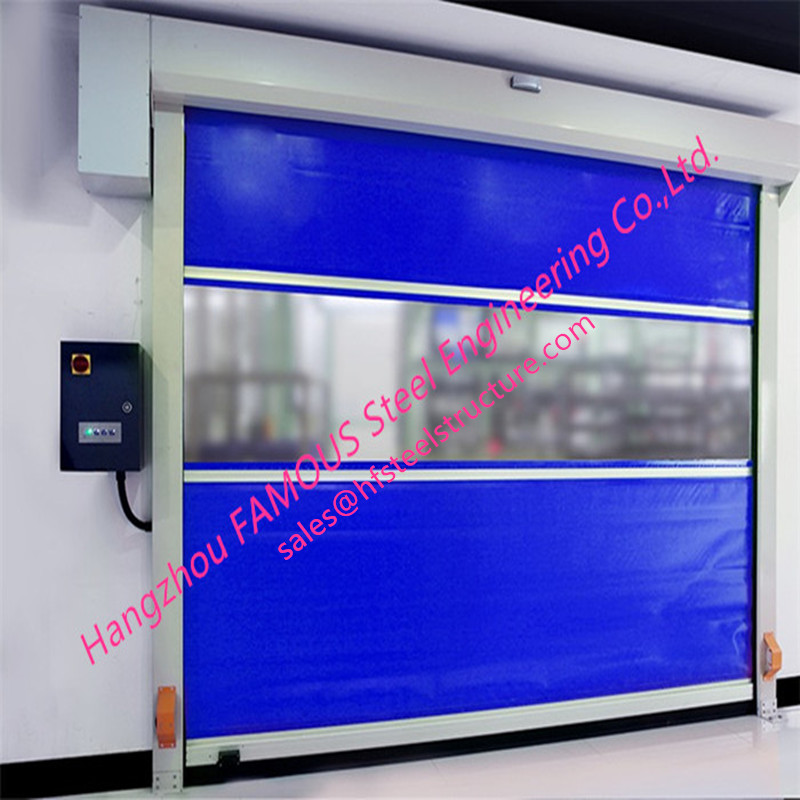 Intelligent Automatic PVC Fabric Fast Speed Door Flexible Industrial Rolling Shutter Door