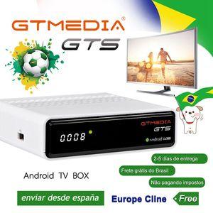 Image 3 - TV, pudełko Android 6.0 2GB + 8GB Amlogic S905D DVB S/S2 odbiornik satelitarny dekoder GTmedia GTS dekoder dla Smart TV z pilotem 4K