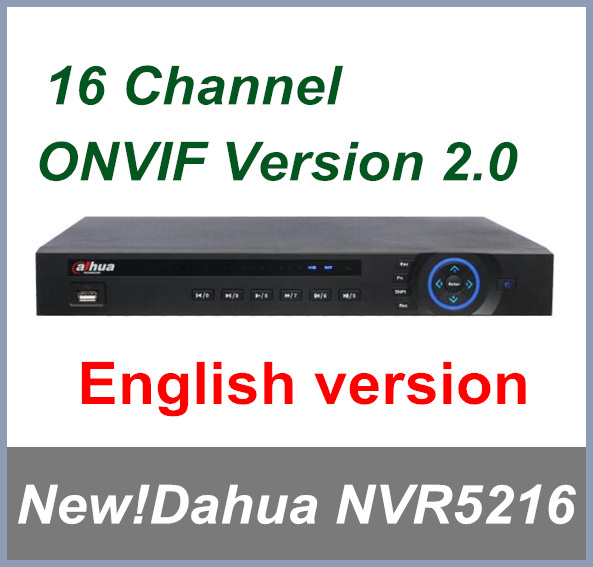 100% Original Dahua 16CH NVR5216 H.264 HD 1080P Network Video Recorder Support English Firmware and Onvif Free shipping