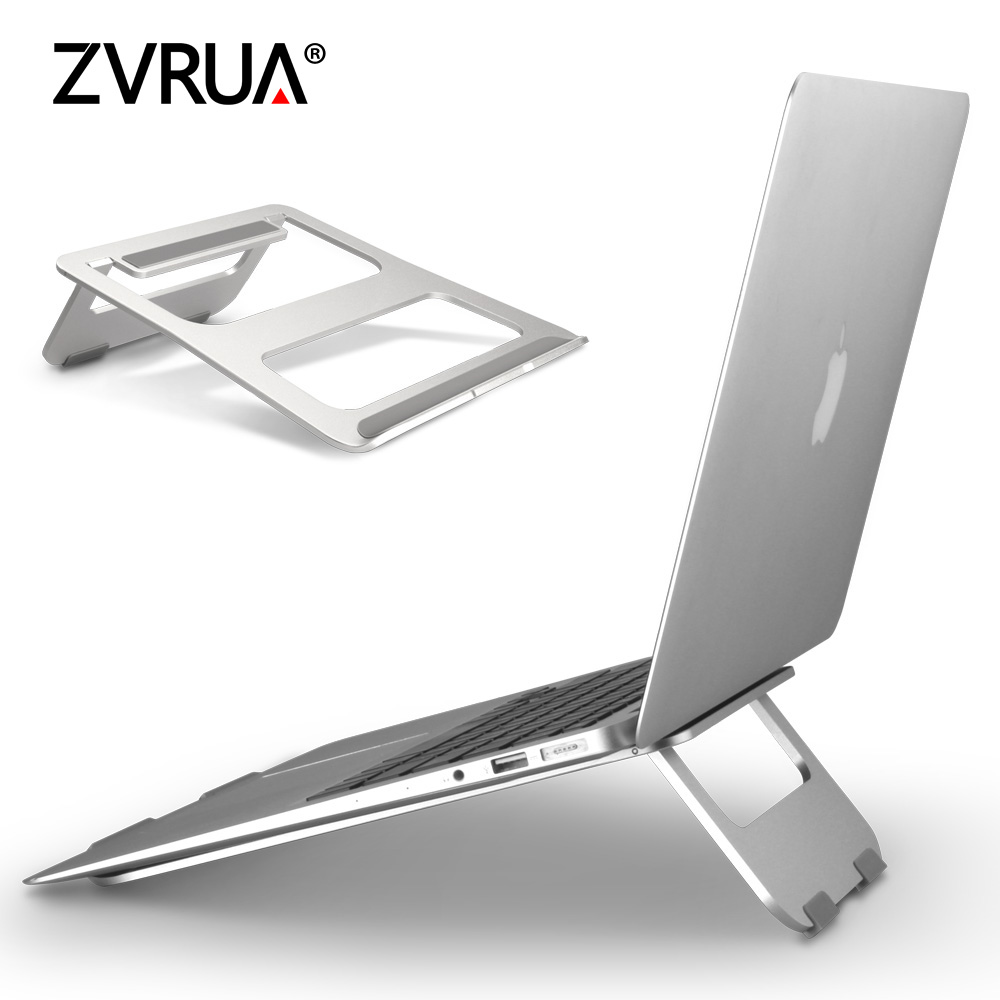 ZVRUA Universal Aluminum Alloy Tablet Holder For Macbook Pro Laptop Stand Holder Accessories For iPad Pro 12.9 Metal Support universal aluminum alloy stand holder for iphone 5 5s