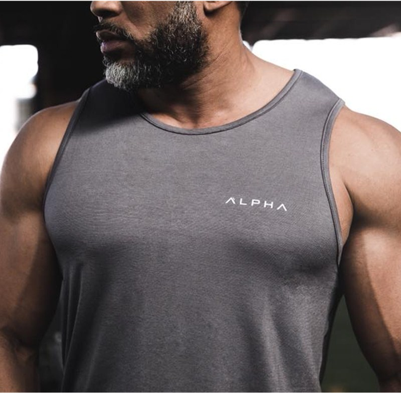 New Mens  Tank top Gyms Fitness Workout Cotton Sling vest Casual Sleeveless top tank Undershirt  clothing
