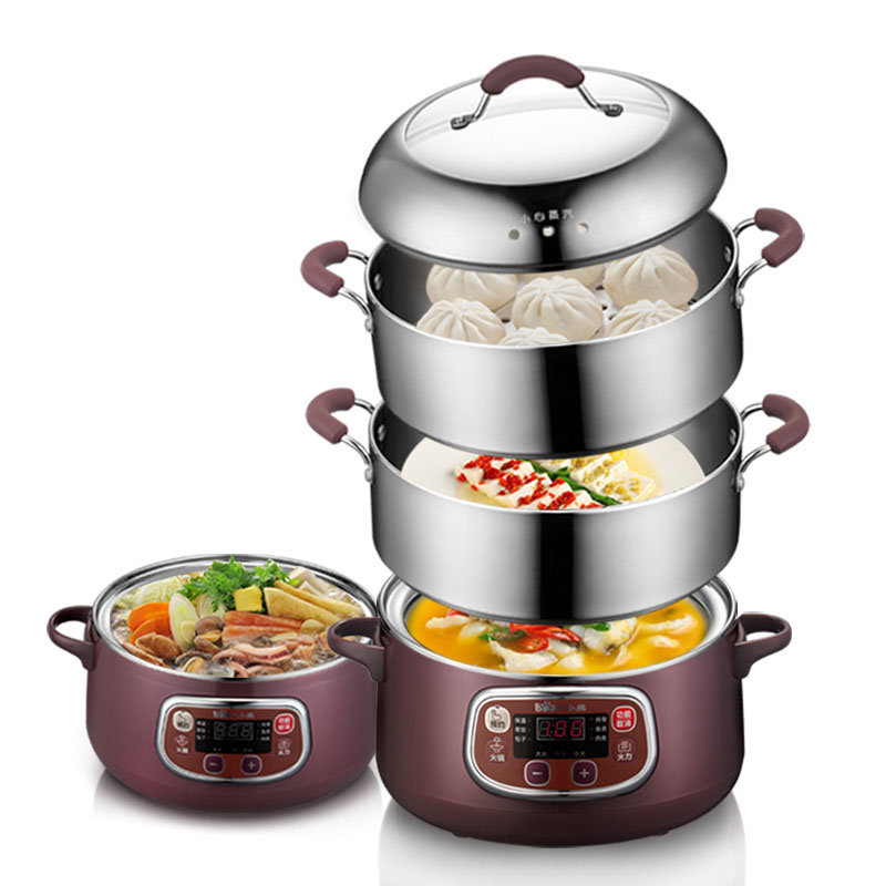 DZG A80A1 Double layer Electric Steamer Multifunctional Stainless Steel Steamer Home Appointable Multifunction Breakfast Maker