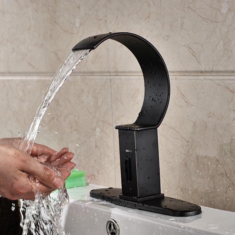 Φ_ΦOil Rubbed Bronze Finished Hands Free Bathroom Sink Automatic ...