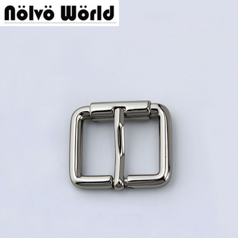 Inner 20mm(3/4)X15mm Polished silver color turnbuckle zinc alloy square pin buckle bags/belts buckles,50PCS